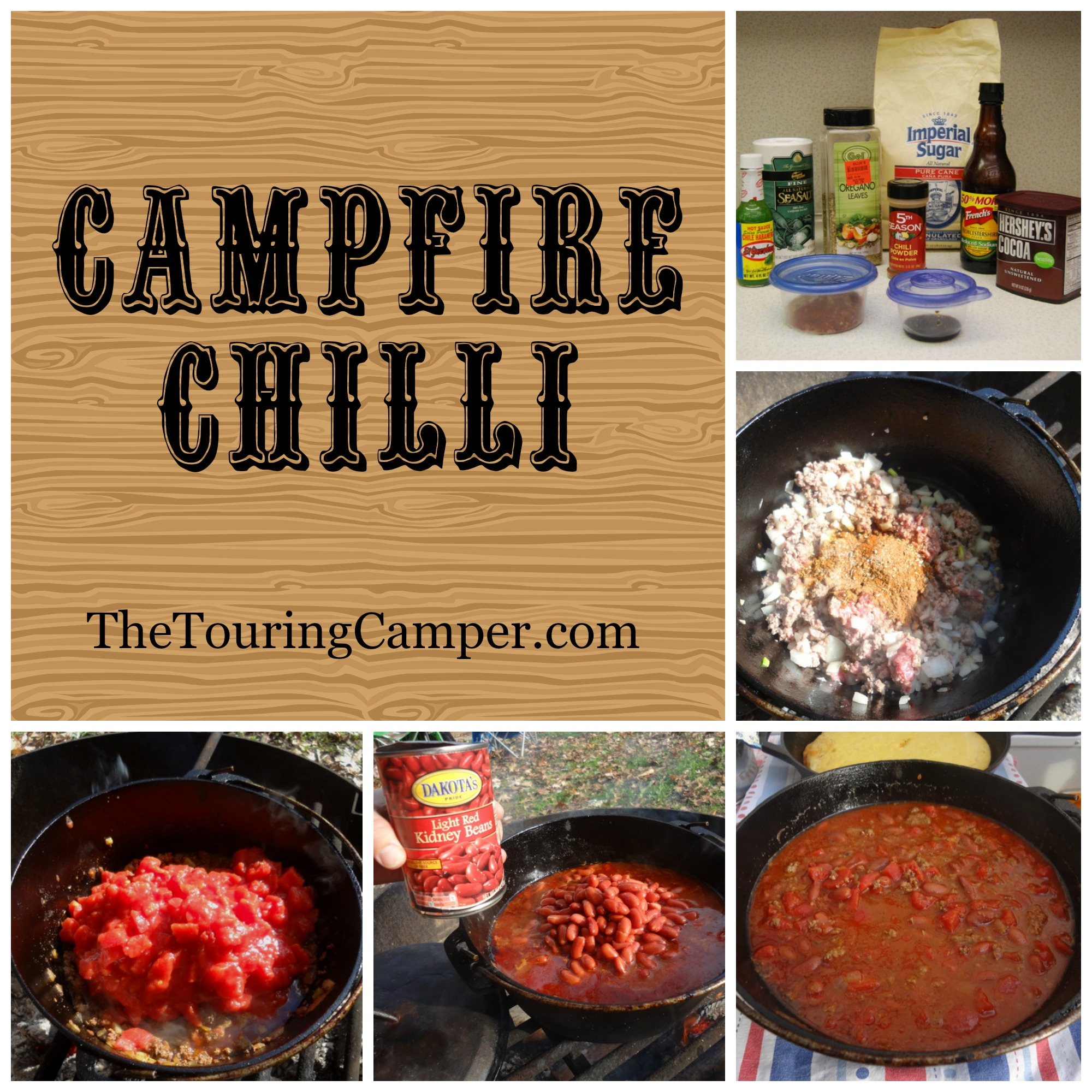 Campfire Chilli collage