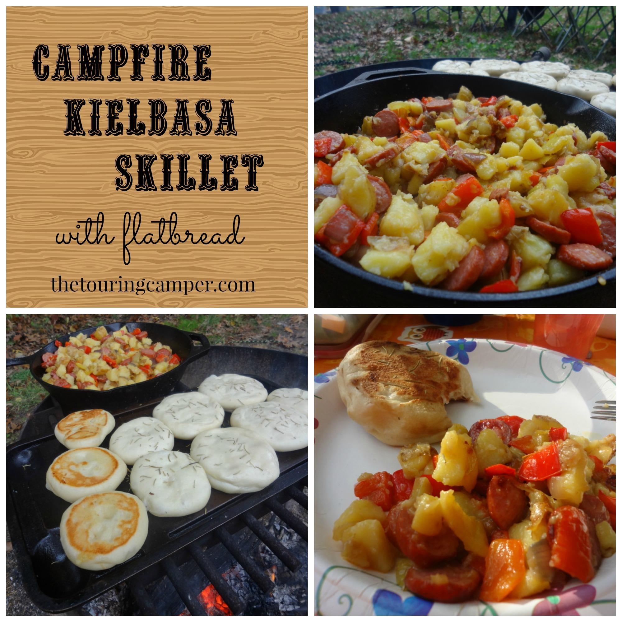 CampfireKielbasaSkilletwithFlatbreadCollage