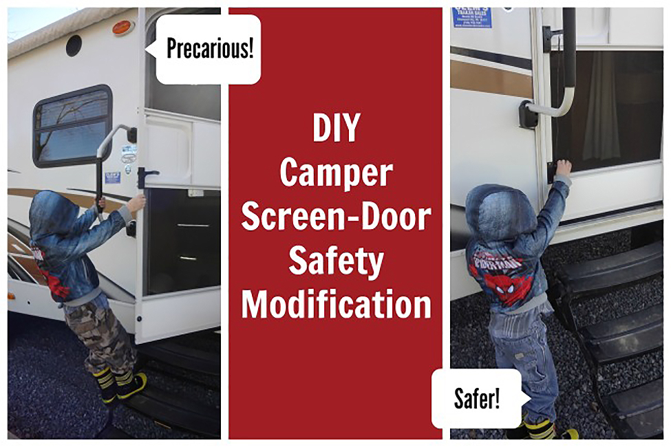 The Touring Camper's Screen door mod