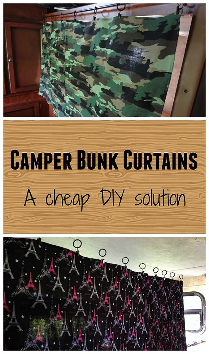 Camper Bunk Curtains collage