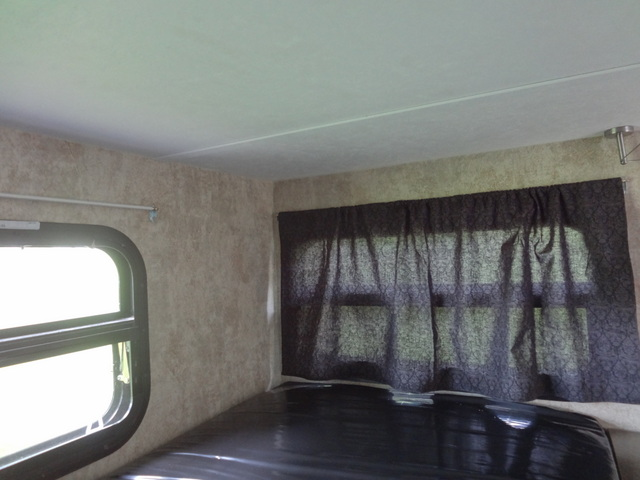 Make your own camper window curtains.