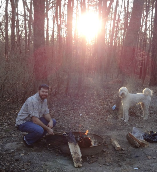 dogs and campfires
